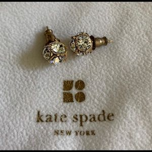 Kate Spade Crystal Embellished Ball Stud Earrings